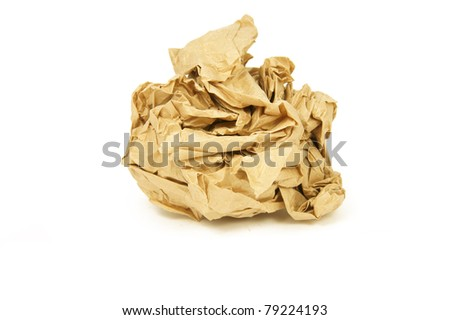 The crumpled paper - stock photo