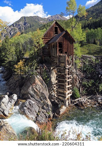 The Crystal Mill above Marble, Colorado, USA. - stock photo