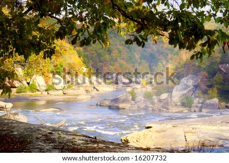 The Cumberland river - stock photo