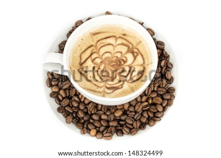 The cup of coffee - stock photo