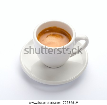 The cup of espresso coffee. - stock photo
