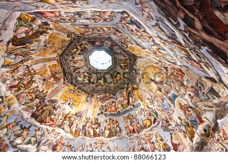 The Cupola of Duomo of Florence. Tuscany, Italy. - stock photo