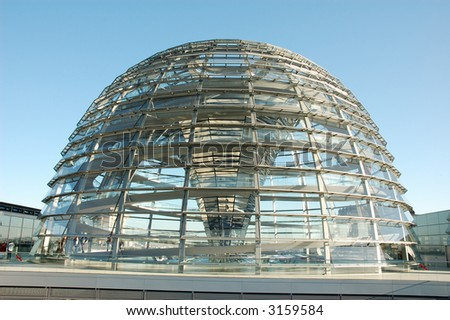 The Cupola on top of the Reichstag building in Berlin, Germany - stock photo