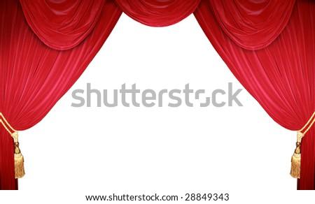 the curtain rises - stock photo