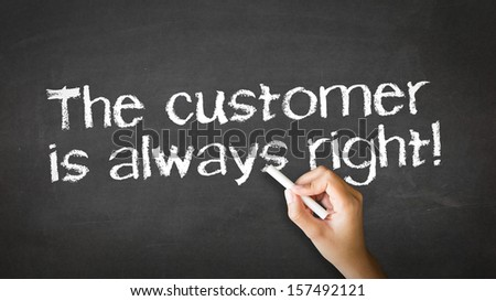 The customer is always right Chalk Illustration - stock photo