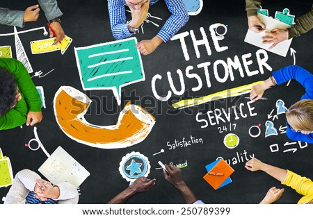 The Customer Service Target Market Support Assistance Concept - stock photo