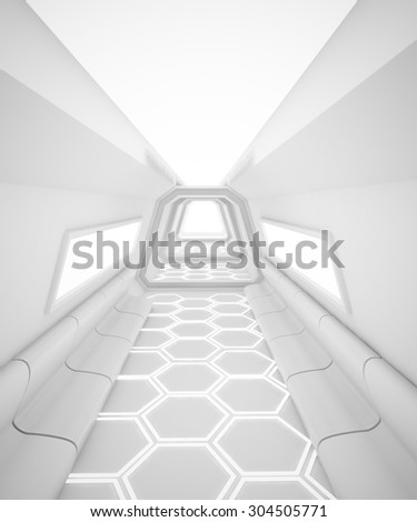 The Cyber room design white background  - stock photo