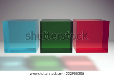 The 3d geometric create by crystal textures and materials - stock photo