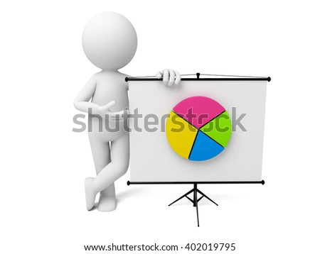 The 3D guy and a pie chart