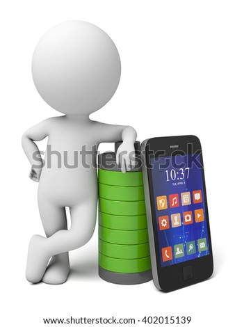 The 3d guy and a smart phone battery