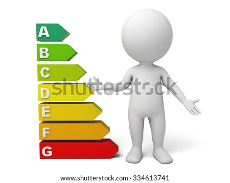 The 3d guy and multiple options question - stock photo
