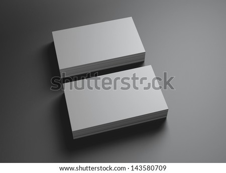 The 3d name card scene could be fit with any name card design,Is the best for promotion of company brand image. - stock photo