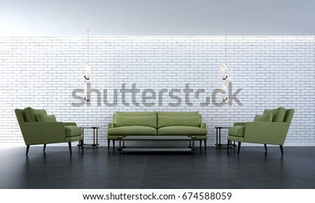 Brick Wall Interior Stock Images RoyaltyFree Images Vectors - White brick interiors