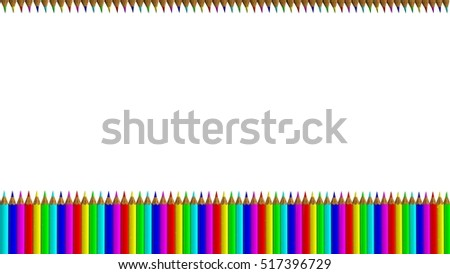 The 3d rendering of colorful pens with nice background color
