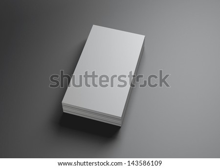 The 3d single name card scene could be fit with any name card design,Is the best for promotion of company brand image. - stock photo