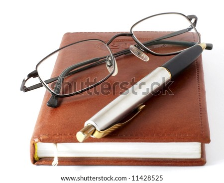 The daily log of the businessman - stock photo