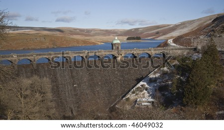 the dams at Elan Valley, Rhayader, Powys, Wales