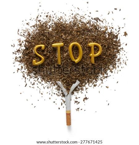 The dangers of smoking - stock photo