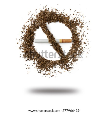 The dangers of smoking - stock photo