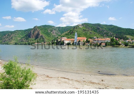 The Danube River and D�¼rnstein - stock photo