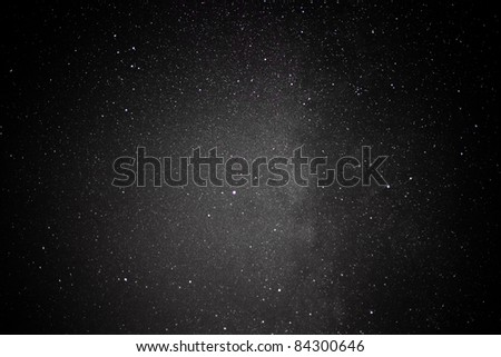 The dark clouds of the Milky Way also known as the M17 Swex is a birthplace of stars - stock photo