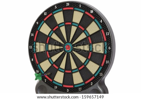 The darts game, number 7 - stock photo