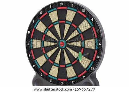 The darts game, number 10 - stock photo