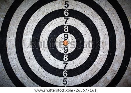 The darts isolated background - stock photo