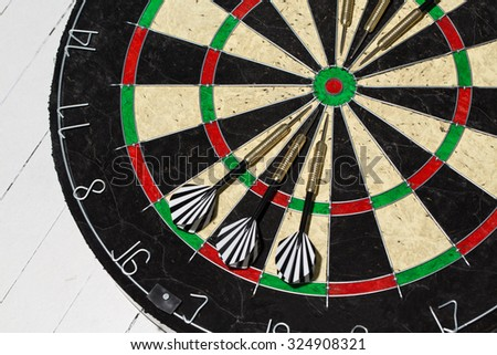 The darts isolated on white background - stock photo