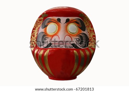 The Daruma doll isolated with white background - stock photo