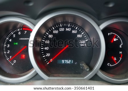 The dashboard of the car close-up - stock photo