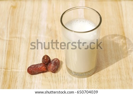 the dates and milk for iftar