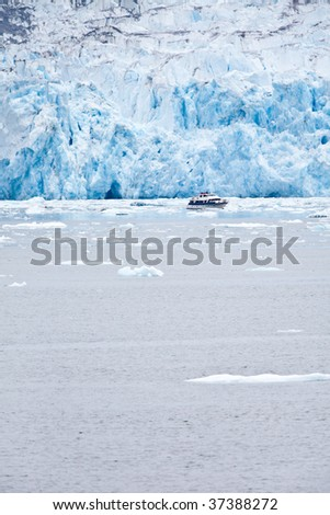 The Dawes Glacier in the Endicott Arm of Alaska