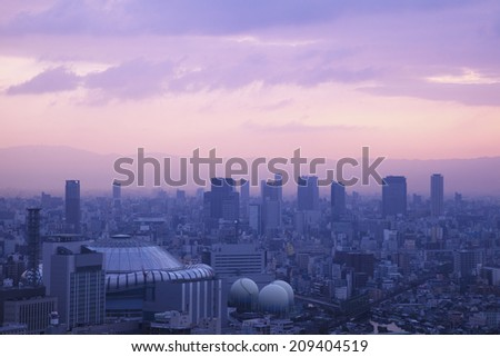 The Dawn Of Osaka - stock photo