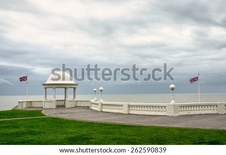 The De La Warr Pavilion grounds - stock photo
