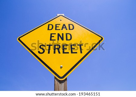 "The ""Dead End Street"" sign. - stock photo"