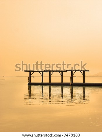 The Dead Sea near to medical beach Ein-Bokek - stock photo