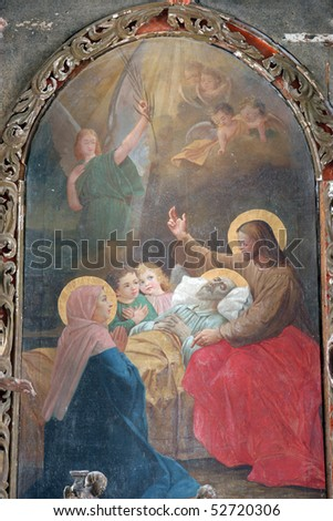 The death of St. Joseph - stock photo
