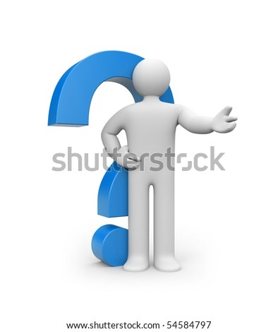 The decision of questions - stock photo