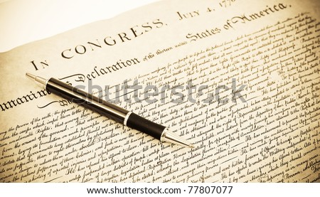 The Declaration - stock photo