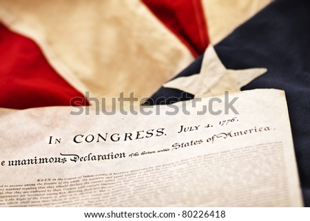 The Declaration of Independence (Selective Focus) - stock photo