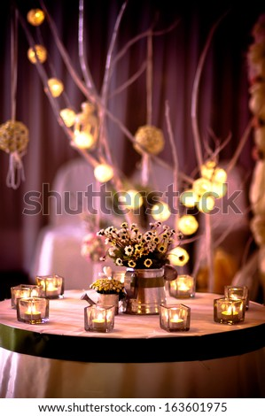 The decoration in a wedding ceremony - stock photo