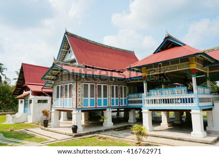 The Demang Abdul Ghani Gallery is a gallery about Demang Abdul Ghani in Merlimau, Jasin, Malacca, Malaysia. It was built in 1894 by Abdul Ghani whose ancestor came from Palembang.