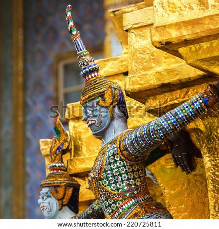 The demon guardian in the grand palace, Bangkok - stock photo