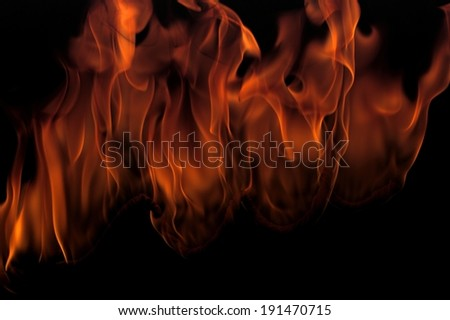 The depiction of blazing fire flames - stock photo