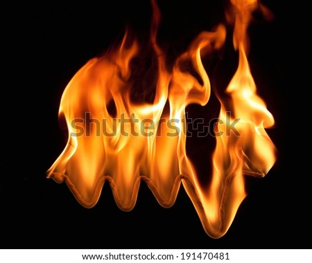 The depiction of business flames - stock photo