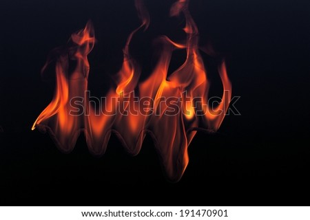 The depiction of fire flames - stock photo