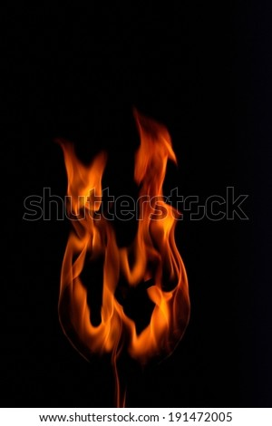 The depiction of Fire flames