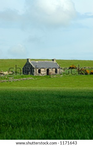 The derelict Bothy - stock photo