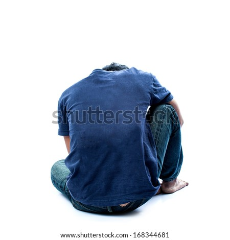 The desperate anxiety  - stock photo